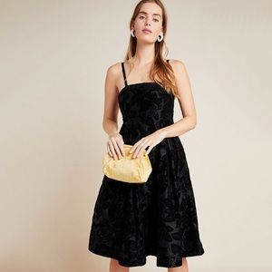 NWT Anthropologie Maeve Jonquil Midi Dress Black